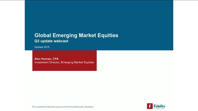 Alex Homan - FF Emerging Markets Fund Update