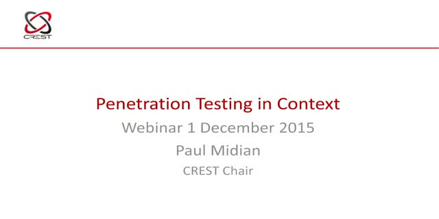 Putting Penetration Testing in Context