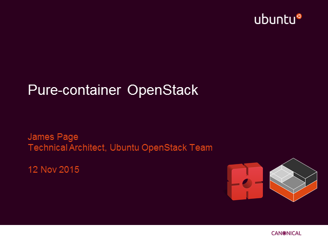 Pure-container OpenStack