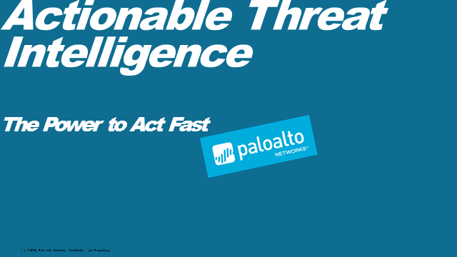 Actionable Threat Intelligence – The Power to Act Fast!