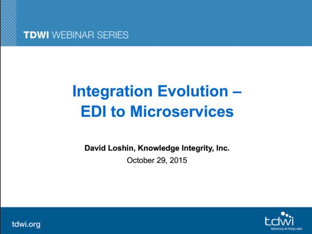 Integration Evolution: EDI to Microservices