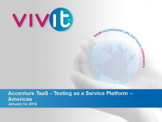 Accenture TaaS - Testing as a Service Platform