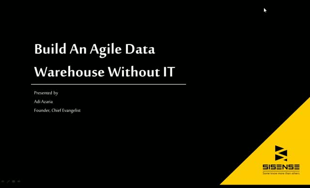 How To Build An Agile Data Warehouse Without IT