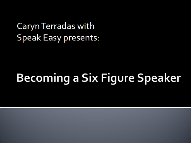 Becoming A Six Figure Speaker