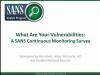 What Are Your Vulnerabilities: A SANS Continuous Monitoring Survey