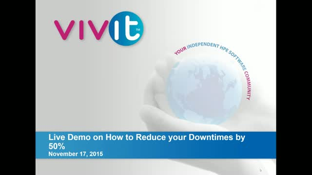 Live Demo on How to Reduce your Downtimes by 50%