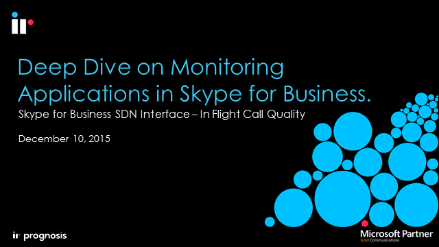 Monitoring Applications in Skype for Business using the SDN Interface