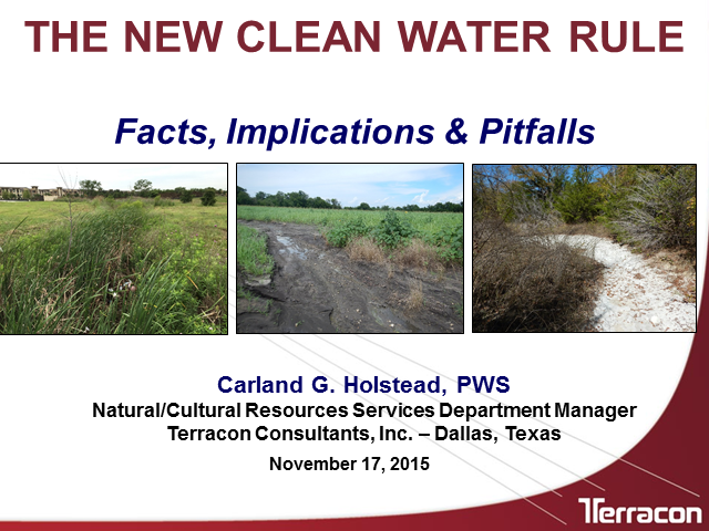 The New Clean Water Rule: Facts, Implications & Pitfalls