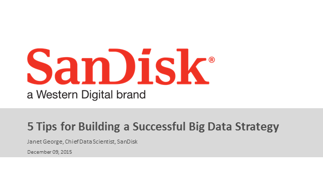 5 Tips to Building a Successful Big Data Strategy