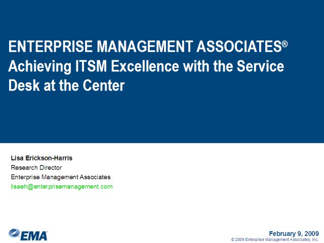 Achieving ITSM Excellence with the Service Desk at the Center