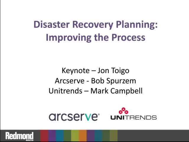 Disaster Recovery Planning: Improving the Process