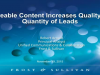 Shareable content increases quality and quantity of leads