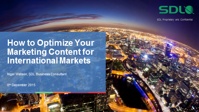 How to optimise your marketing content for international markets