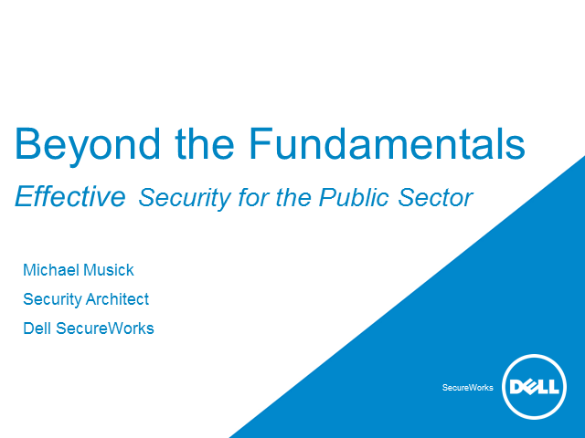 Effective Security for the Public Sector