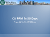 CA PPM in 30 Days