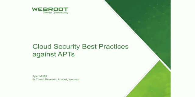 Cloud security best practices for defending against APTs