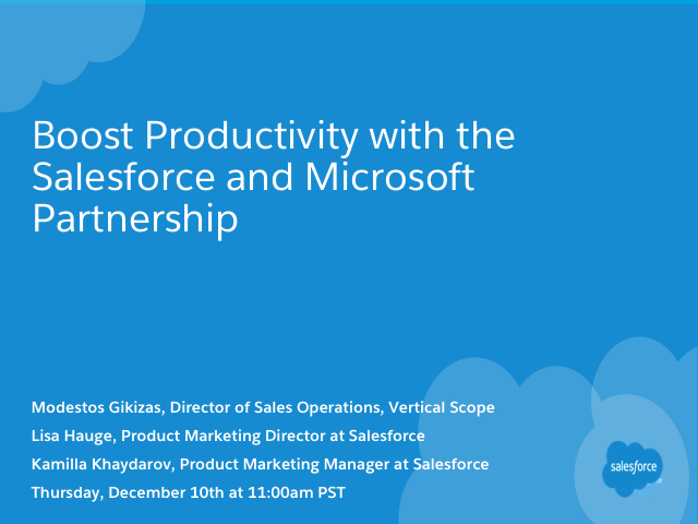 Boost Productivity with the Salesforce and Microsoft Partnership