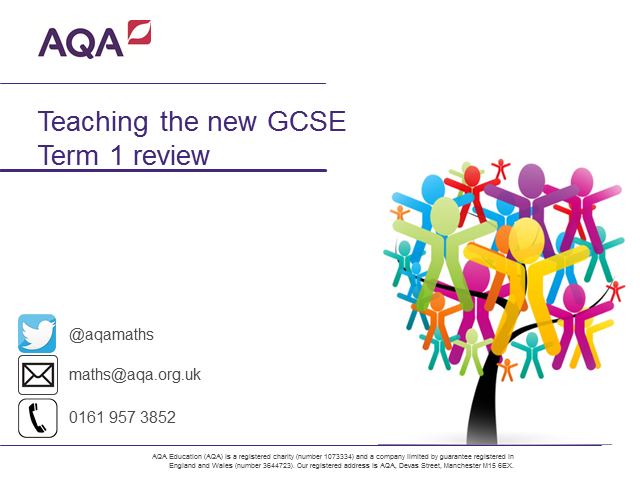 New Maths GCSE - Term 1 review: what worked, what didn't, and what we learned