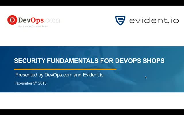Security Fundamentals for DevOps Shops