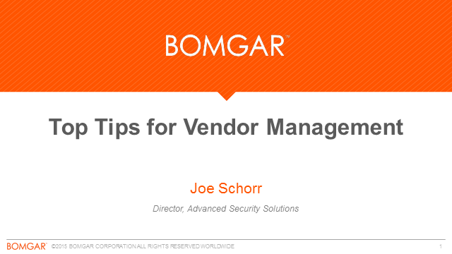 Top Tips for Vendor Management