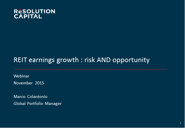 REIT earnings growth - risk AND opportunity