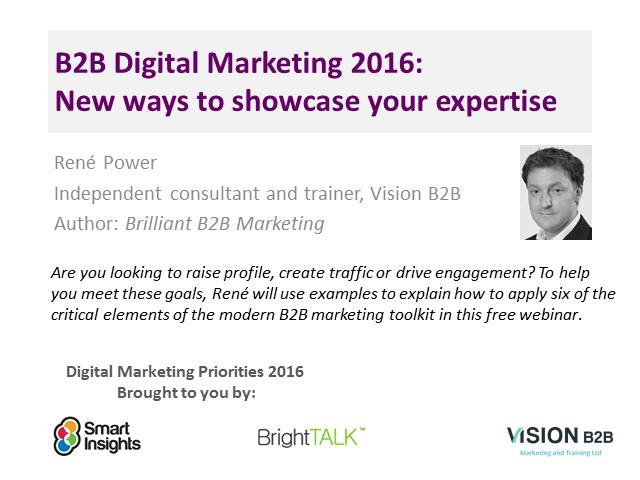 B2B Digital Marketing Trends for 2016