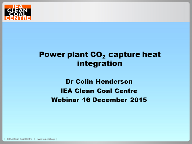 Power plant CO2 heat integration