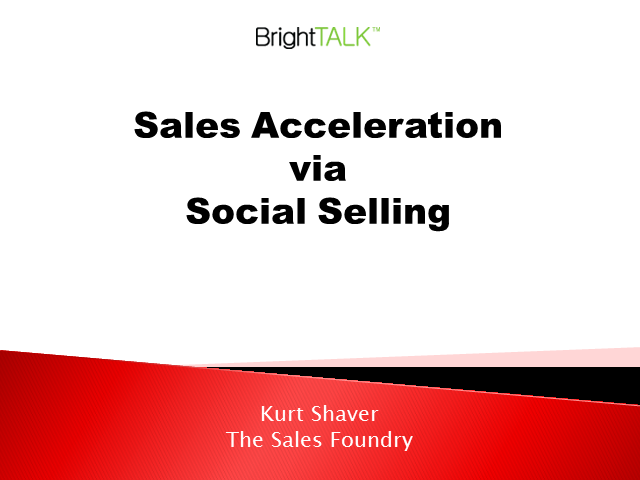 Sales Acceleration via Social Selling