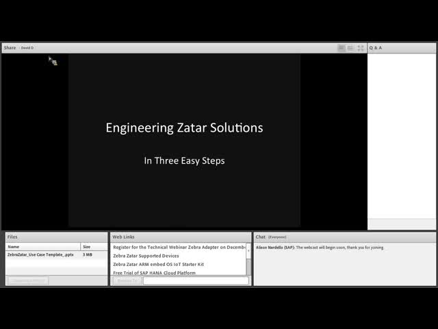 Technical Deep Dive: Zebra Zatar Platform