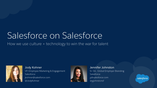 How Salesforce uses Culture + Technology to Win the War for Talent