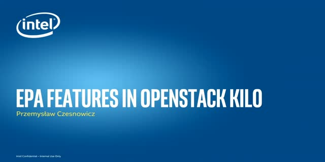 EPA features in OpenStack KILO