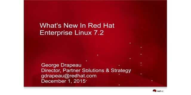 What's New in Red Hat Enterprise Linux 7.2