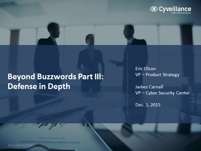 Beyond Buzzwords, Part III: What Is Defense in Depth?