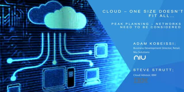 Cloud – one size doesn't fit all: How network requirements need to be considered
