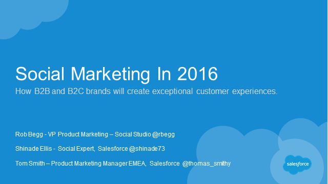 Social marketing in 2016: B2B and B2C perspectives from successful brands