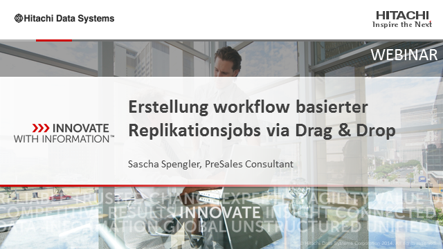 Erstellung workflow basierter Replikationsjobs via Drag & Drop