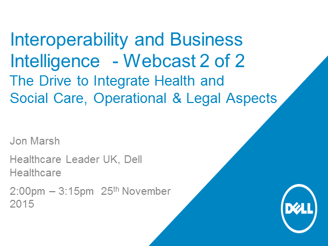 Part 2 - Interoperability of Health & Social Care - Operational & Legal Aspects