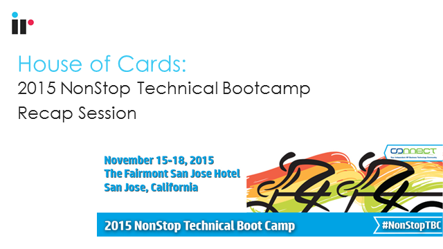 2015 NonStop Technical Bootcamp Wrap