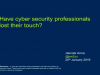 Have Cyber Security Professionals Lost Their Touch?