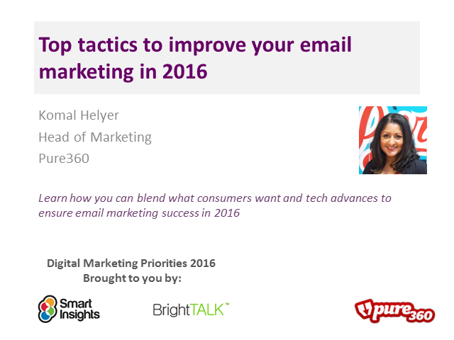 Top tactics to improve your Email marketing in 2016
