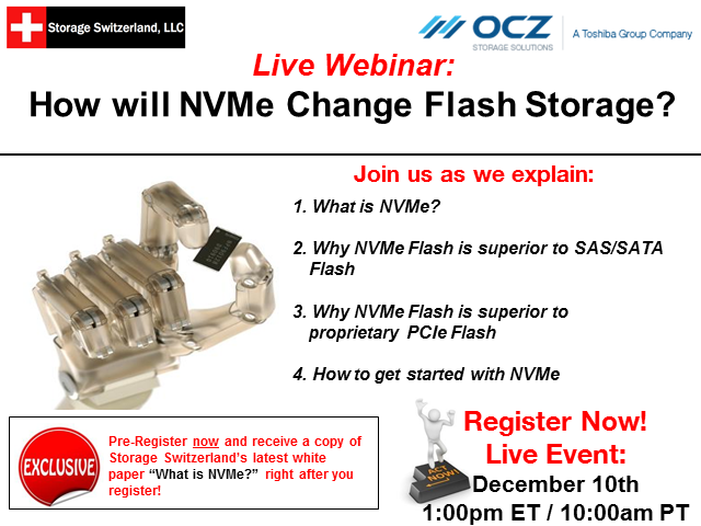 How NVMe Will Change Flash Storage