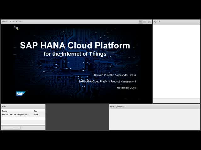 Technical Deep Dive: SAP HANA Cloud Platform for the Internet of Things