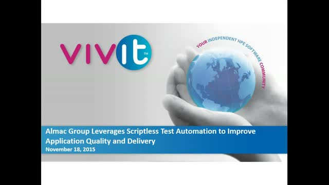 Almac Group Leverages Scriptless Test Automation to Improve Application Quality