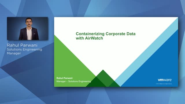 Containerizing Corporate Data with AirWatch
