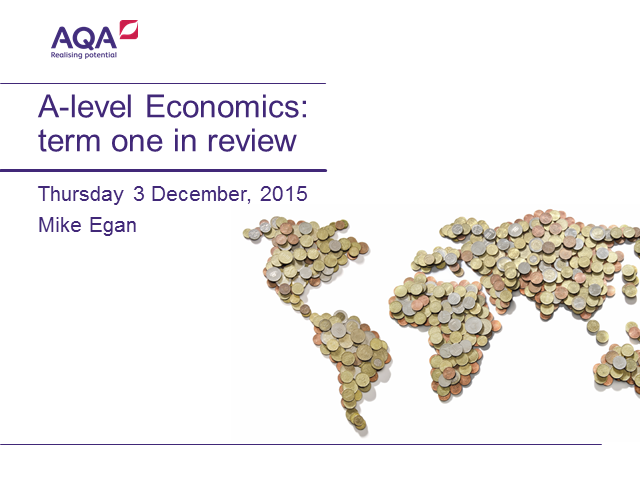 A-level Economics: term one in review