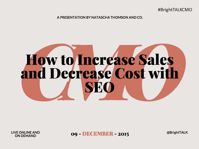 How to Increase Sales and Decrease Cost with SEO