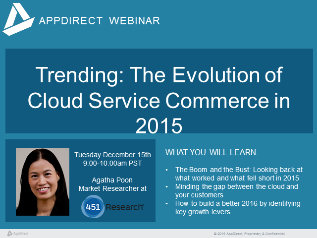 Trending: The Evolution of Cloud Service Commerce in 2015