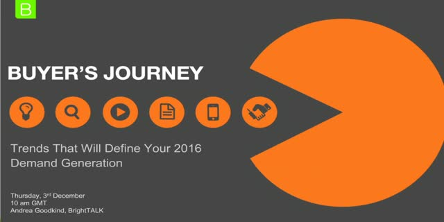 Buyer's journey trends that will define your 2016 demand generation [EMEA]