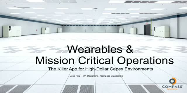 Enhancing Data Center Operational Performance via Wearable Technology