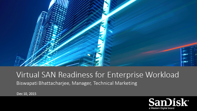 Make VMware Virtual SAN Ready for Enterprise Workloads